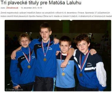 20131213 Tri plavecké tituly pre Matúša Laluhu - ŽilinaDnes_380
