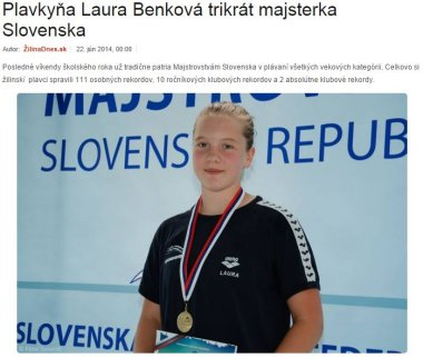 20140622 Plavkyňa Laura Benková trikrát majsterka Slovenska_380