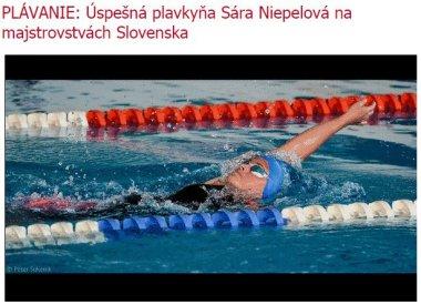 20141200 PLÁVANIE - Úspešná plavkyňa Sára Niepelová na majstrovstvách Slovenska_380