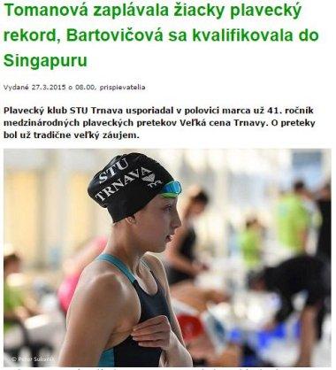 20150327 Tomanová zaplávala žiacky plavecký rekord, Bartovičová sa kvalifikovala do Singapuru_380