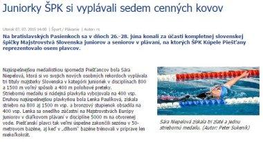 20150707 Juniorky ŠPK si vyplávali sedem cenných kovov_380